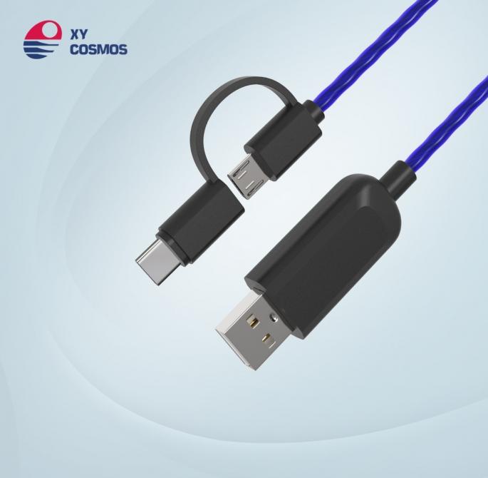 湘元宇流光线数据线适用 苹果iPhone追光发光线 el发光数据线