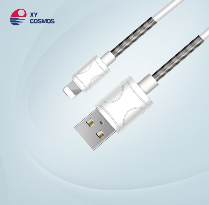 弹簧数据线不怕弯折的充电线超耐用数据线